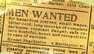 Men Wanted, Small Wages, Survival Doubtful