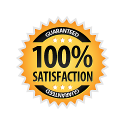 Satisfaction Guarantee 100% - Burst Badge Orange