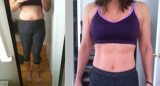 kiernan before & after impossible abs