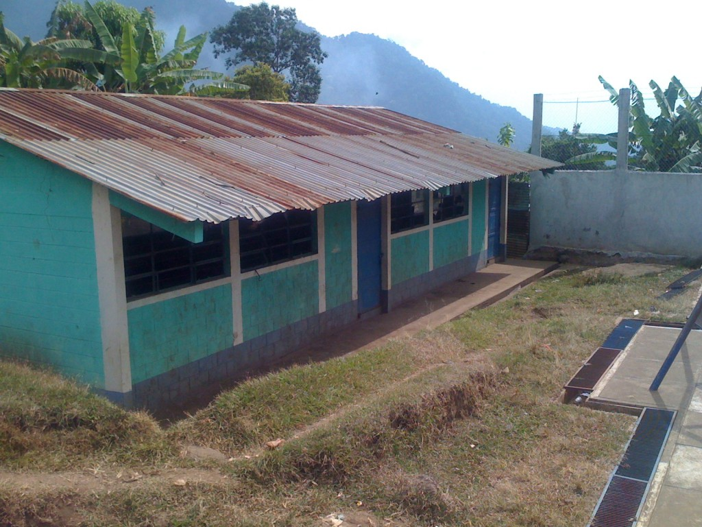 Existing classrooms at the school of Las Palmas, Guatemala