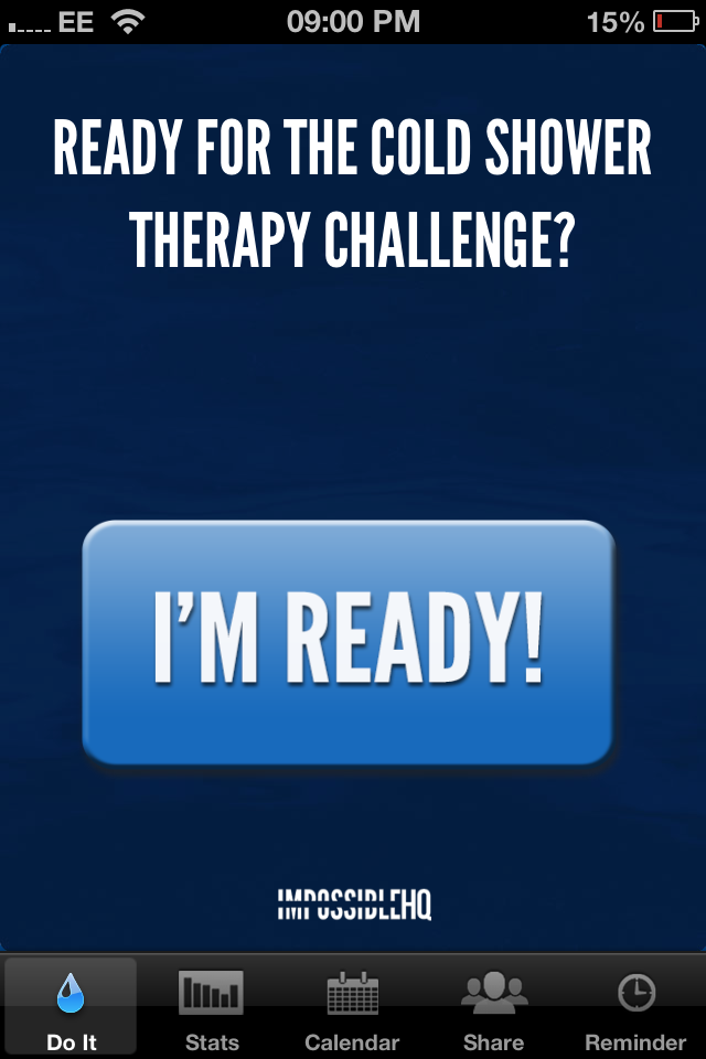 Cold Shower Therapy™ – Now Available for iOS