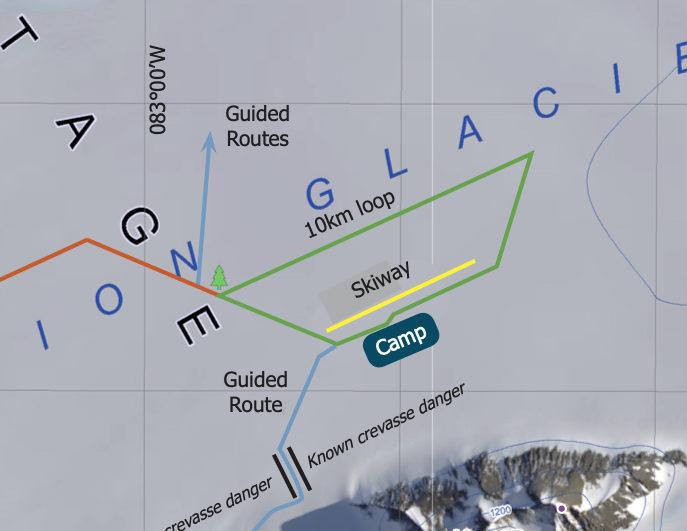 Union Glacier Antarctica Map ENHANCED